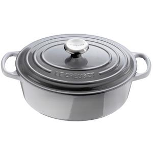 Le Creuset – Cocotte ovale 29 cm Mist grey fonte  21178295412430
