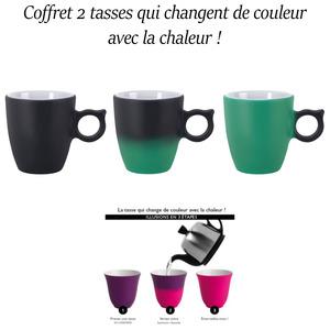 Guy Degrenne – Coffret 2 Tasses Expresso 6 cl Anthracite