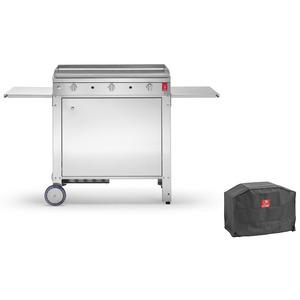 Planet outdoor – Plancha Chef 80 Lisse+Housse PLANET+Chariot fermé