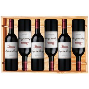 Ph. de Rothschild – Caisse bois 6 bouteilles Agneau Rouge 2018
