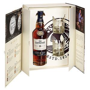 The Glenlivet – Coffret The Glenlivet 18 ans 0.7L + 2 verres