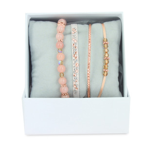 Les Interchangeables – Strass Box Bobo chic rose/ Or rose