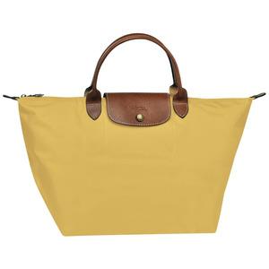 Longchamp – Sac porté main M Ligne Le Pliage – coloris curry