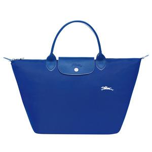Longchamp – Sac porté main M Le Pliage Club Cobalt