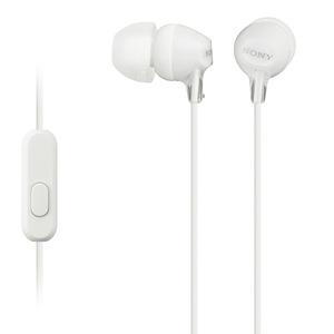 Sony – Ecouteurs  avec commandes micro MDR-EX15AP blanc