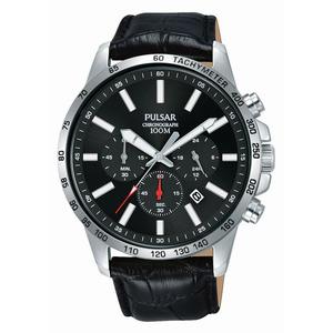 Pulsar – Montre homme Sport chrono cuir noir PT3A01X1