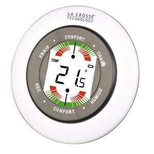La Crosse technology  – Thermomètre digital – WT138-W-BLI